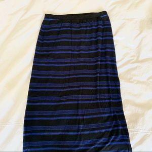Splendid Striped Maxi Skirt, Super Soft